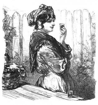 Woman, drinking
