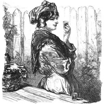 Woman, drinking